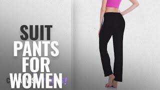Top 10 Suit Pants For Women [2018]: CROSS1946 Women Yoga Pants Ladies Trousers Casual Straight Leg