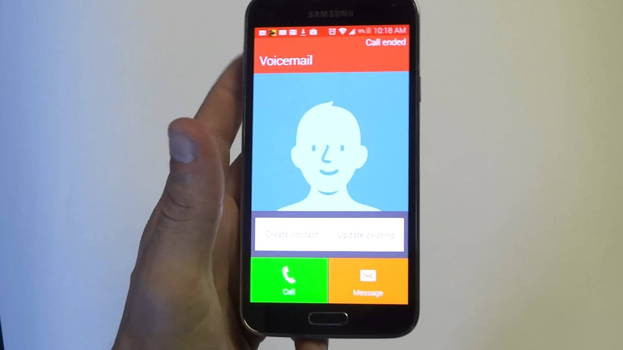 how to set up voicemail greeting on samsung galaxy s5
