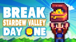 How To BREAK Stardew Valley On Day One - DPadGamer