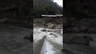 Newly constructed, collapsed Bridge of Neelum valley