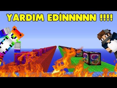 EVİM OCAĞIM YANIYORRR ! (MAP ÇÖKTÜ) Minecraft Lucky Block Yarışları W/Sinan Koçali