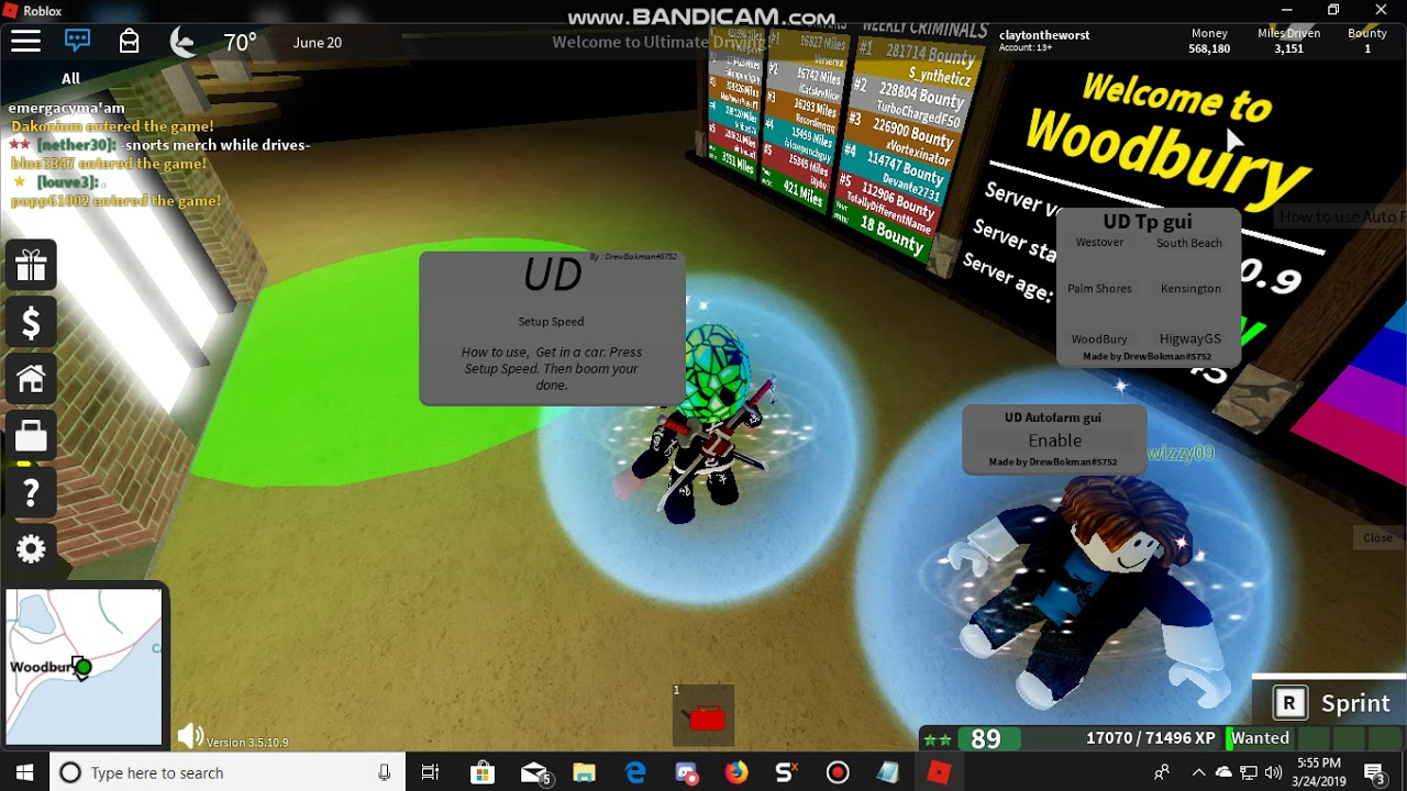 Ultimate Driving Ud Auto Farm And Teleports Gui Youtube