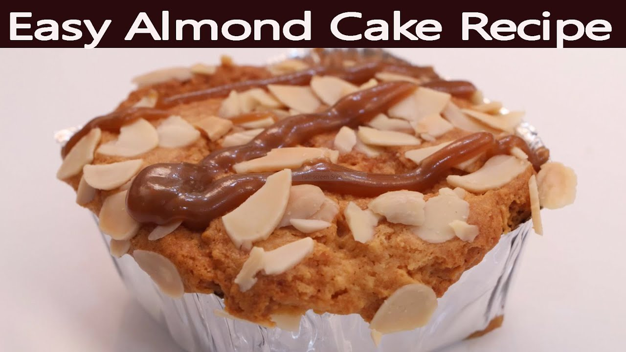 Almond Cake  Badam Cake Recipe Without Oven  Easy Cake Recipe