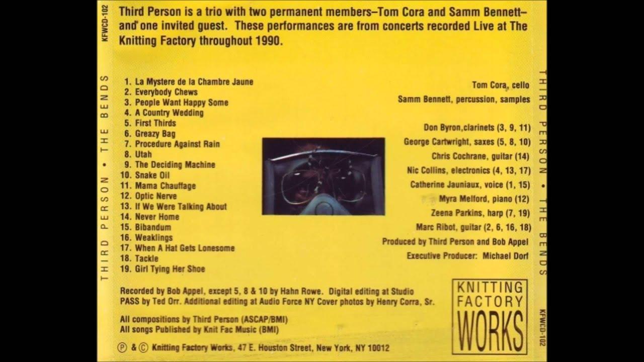 Third Person Tom Cora & Samm Bennett – Snake Oil The Bends