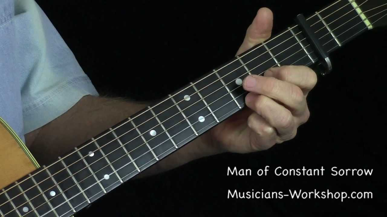 Man Of Constant Sorrow Guitar Solo With Dyno Tab Youtube