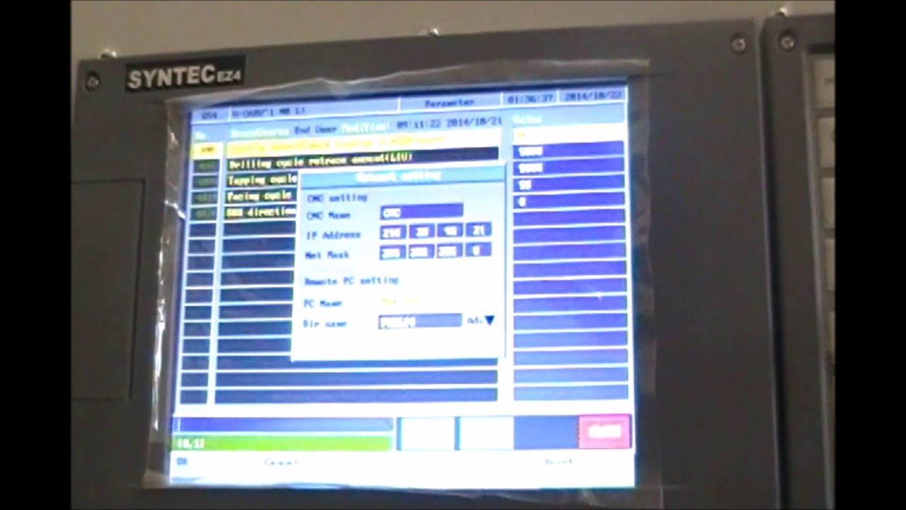 syntec controller network setup cnc router youtube rh youtube com