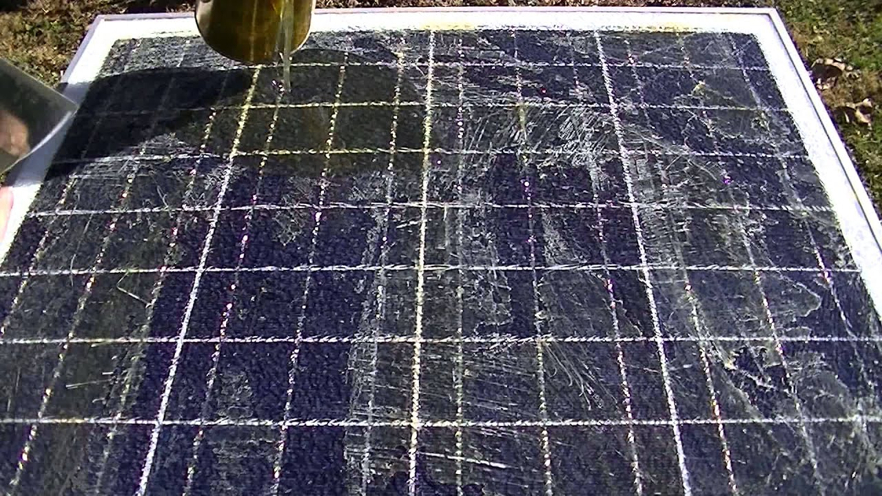 solar panel glass repair youtube. Black Bedroom Furniture Sets. Home Design Ideas