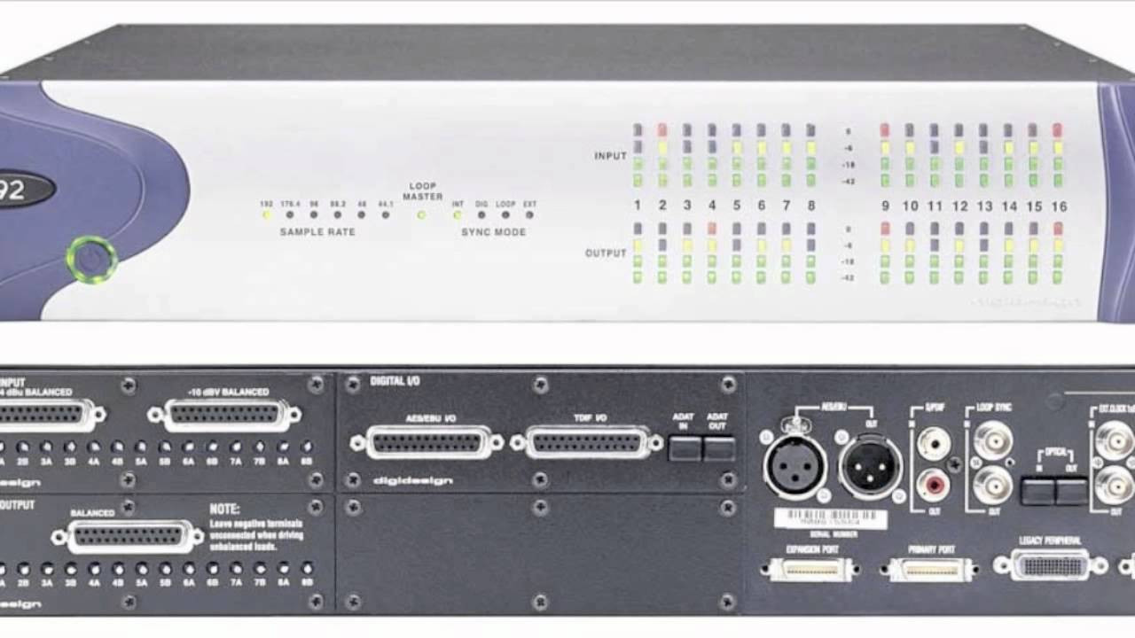 Hook up digidesign 192