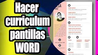 Como Hacer Un Curriculum Vitae En Word 2018 Free Online Videos