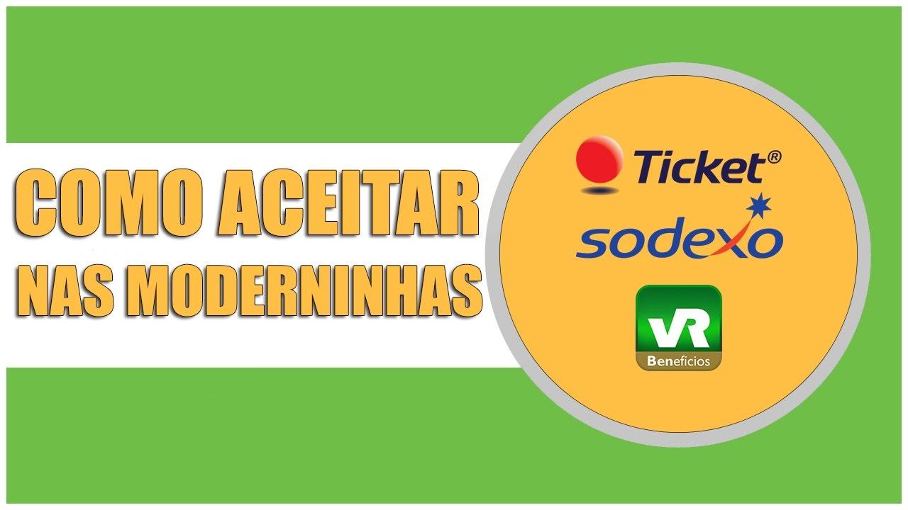 d4487634c Como Aceitar Ticket, VR e Sodexo na Moderninha PagSeguro - YouTube