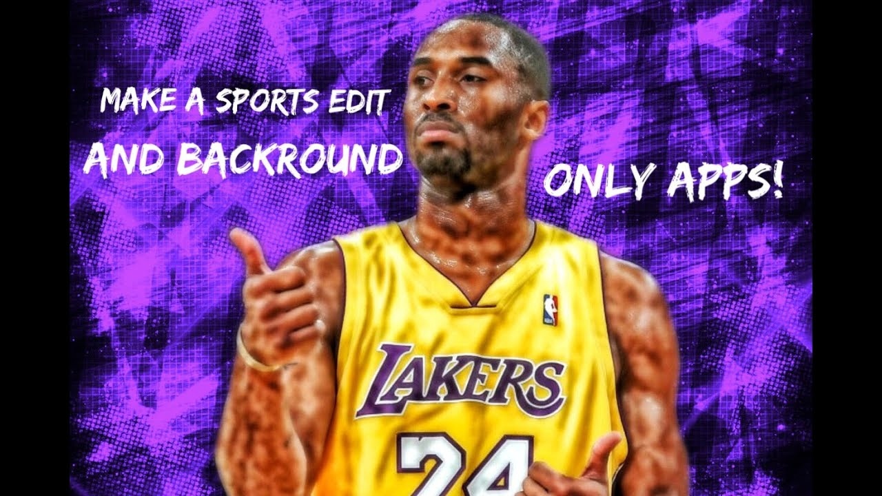 Sports Edit Iphone Wallpaper: How To Make Sports Edit W/ Background!!! All Apps!