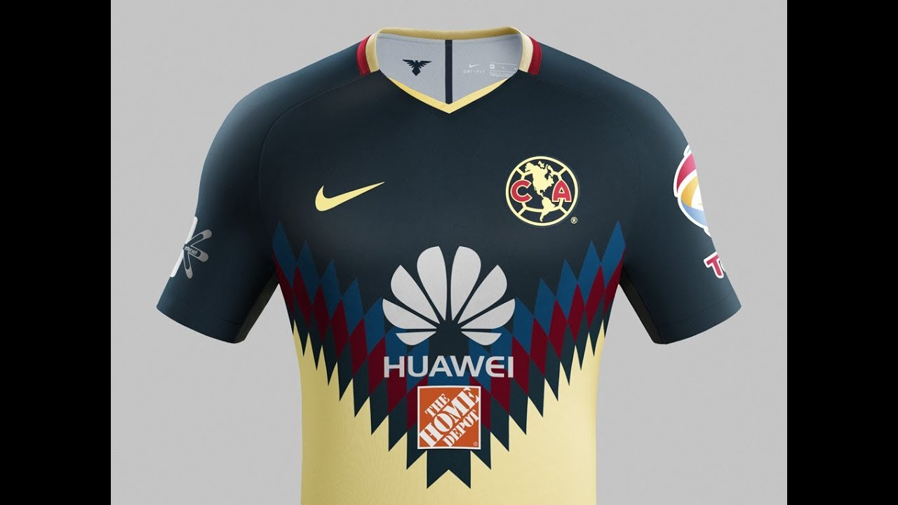 Nike Club America 2017 18 Home Jersey - YouTube 2df0047eb869