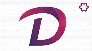 Custom Text Logo Design Tutorial using font / Adobe illustrator Logo Design Tutorial / Letter D Logo