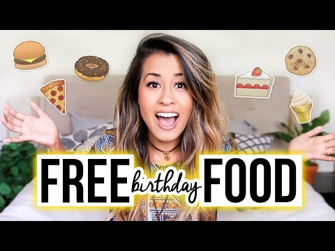 HOW TO GET FREE FOOD ON YOUR BIRTHDAY! | Ariel Hamilton
