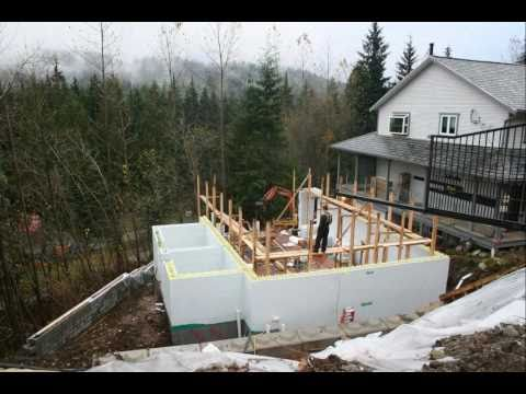 Net zero home built with logix icf time lapse video doovi for Icf pool