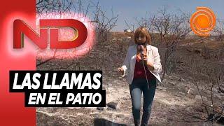 Terrazas del Lago: Fabiana Dal Prá recorre las zona arrasada por el fuego