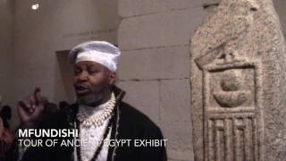 Mfundishi Tour of Ancient Kemet (Egyptian) Exhibit