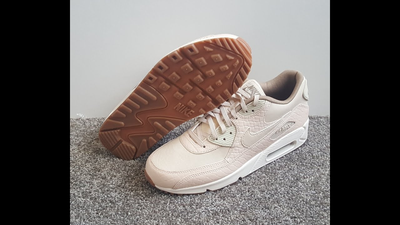 competitive price 5f7b6 9247f unboxing unpacking Nike Air Max 90 Premium Oatmeal Oatmeal Sail Khaki code  443817 105