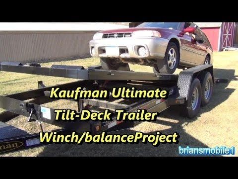 Kaufman Tilt Deck Trailer Project- Winch mounting/balancing