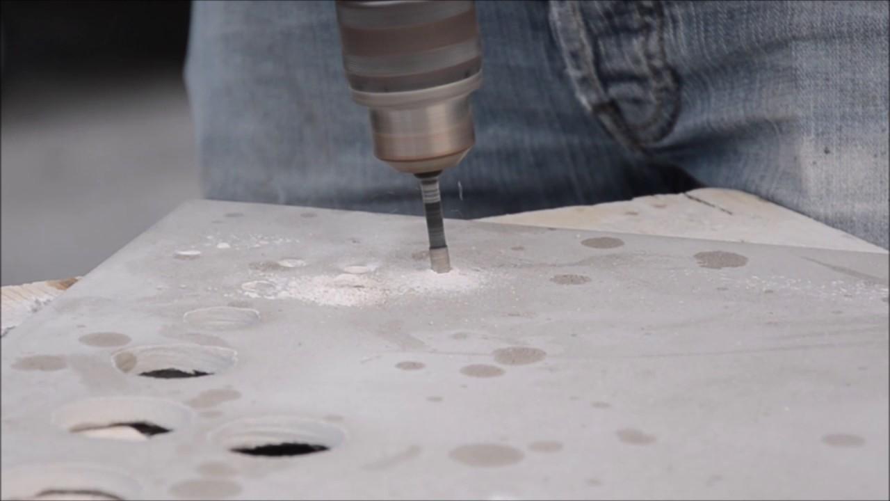 Diamantbohrer 6mm bohren in Feinsteinzeug www.tb-tools.ch - YouTube