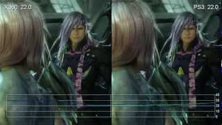 Final Fantasy 13-2 360 X PS3 performance of the graphics engine