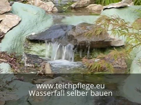 wasserfall impressionen f r bauanleitung am teich youtube. Black Bedroom Furniture Sets. Home Design Ideas