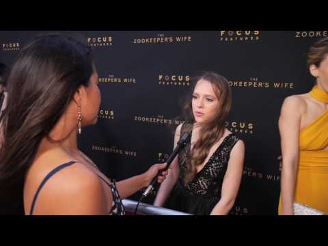 LA Premiere of The Zookeeper's Wife Interview w/ Shira Haas