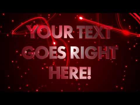 Nightclub Text - Customisable animated video loop