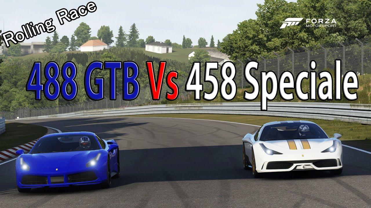 Forza Motorsport 6 - DRAG RACE: Ferrari 488 GTB Vs Ferrari 458 ... on lamborghini vs audi r8, lamborghini vs dodge viper, lamborghini vs nissan gt-r, lamborghini vs nissan skyline, lamborghini vs mclaren f1, lamborghini vs laferrari, lamborghini vs ford focus, lamborghini vs bugatti veyron super sport, lamborghini vs toyota supra, lamborghini vs hyundai elantra, lamborghini vs corvette, lamborghini vs porsche 911, lamborghini vs nissan 300zx, lamborghini vs mclaren p1,