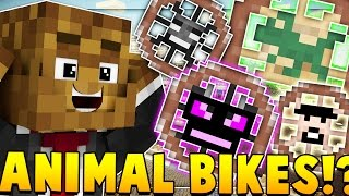 ANIMAL BIKES MOD CHALLENGE (RIDE A DRAGON) | Minecraft - Mod Battle