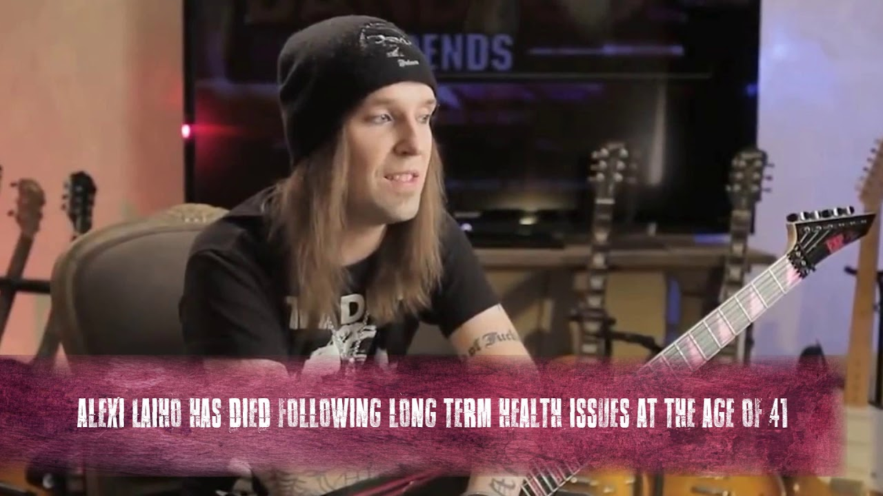 Alexi Laiho, front man for Finnish metal band Children of Bodom ...