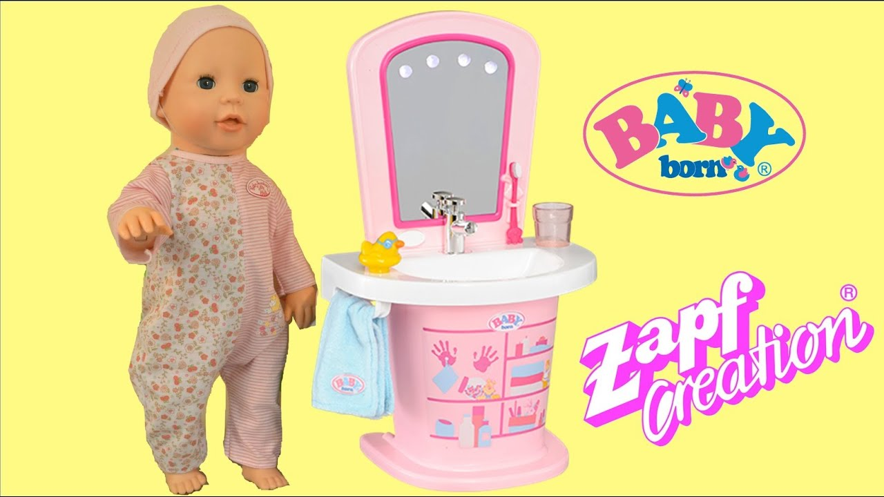 Baby Born Washbasin Baby Annabell Baby Doll Get Ready for Bed ...