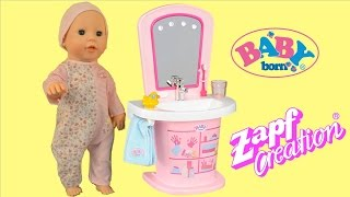 Baby Born  Washbasin Baby Annabell Baby Doll Get Ready for Bed Pretend Play | TheChildhoodLife