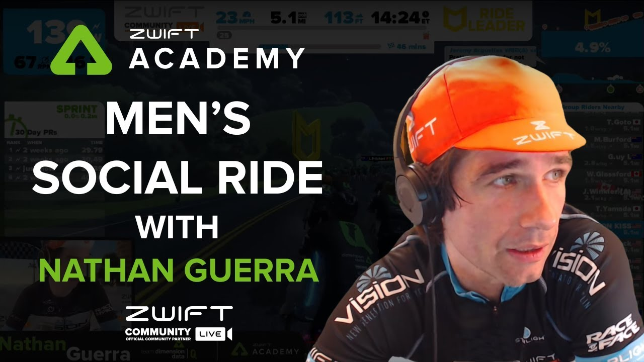 Zwift Academy: Men's Social Ride Ride Leader: Nathan Guerra