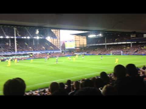 Diego Costa 1st Goal VS Everton (Fan View)