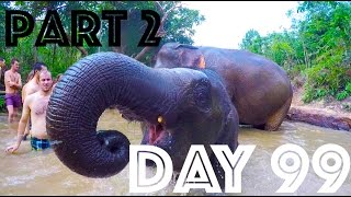 Mud Bath with Elephants! | Day 99 Pt 2