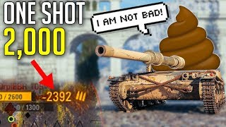 Look, This Tank is OP - 2,000 With 1 Shot! ► World of Tanks Manticore Gameplay