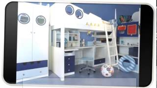 Kids Blue Modern Bedroom