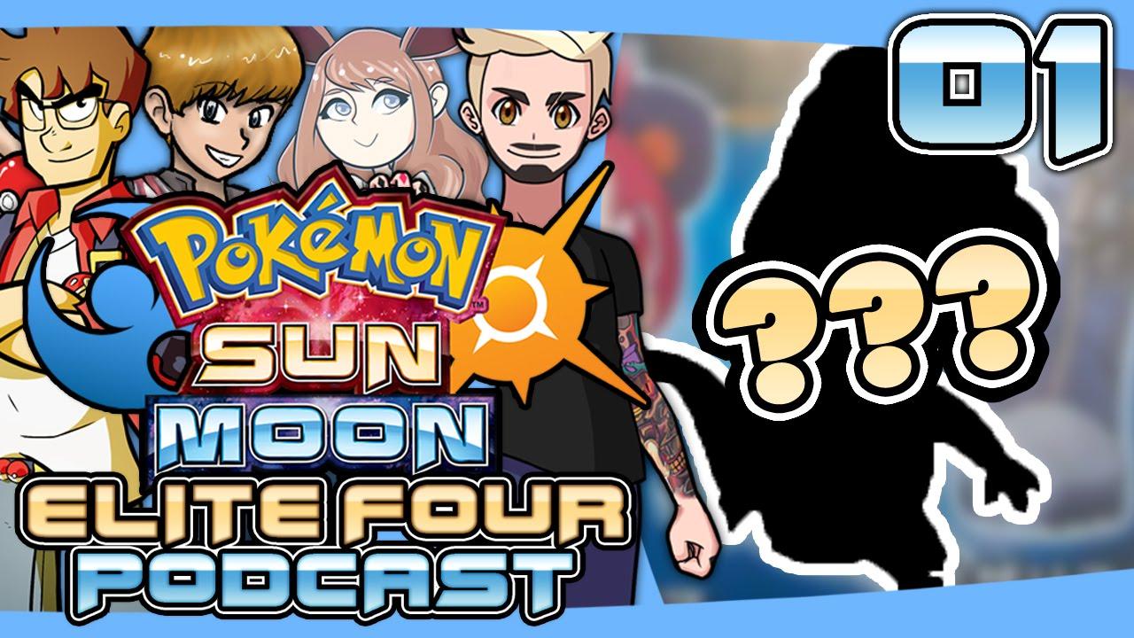 pokémon sun and moon elite four podcast 001 starter leaks