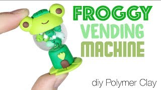How to DIY Frog Vending/Gumball/Gashapon Machine Clay Tutorial