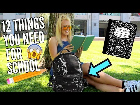 12 Things You NEED In Your Backpack For College