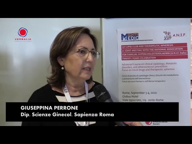 INTERVISTA A GIUSEPPINA PERRONE. 15th LIPID CLUB - IL CONGRESSO.  20° ANNIVERSARIO ANIF