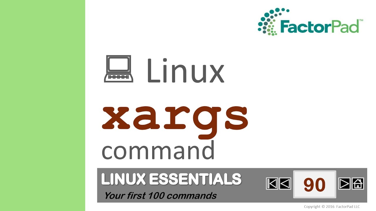 Linux Xargs Command Summary With Examples Youtube