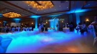 Minnesota Wedding Decor Lighting Up Lights Monogram Spotlight Projector