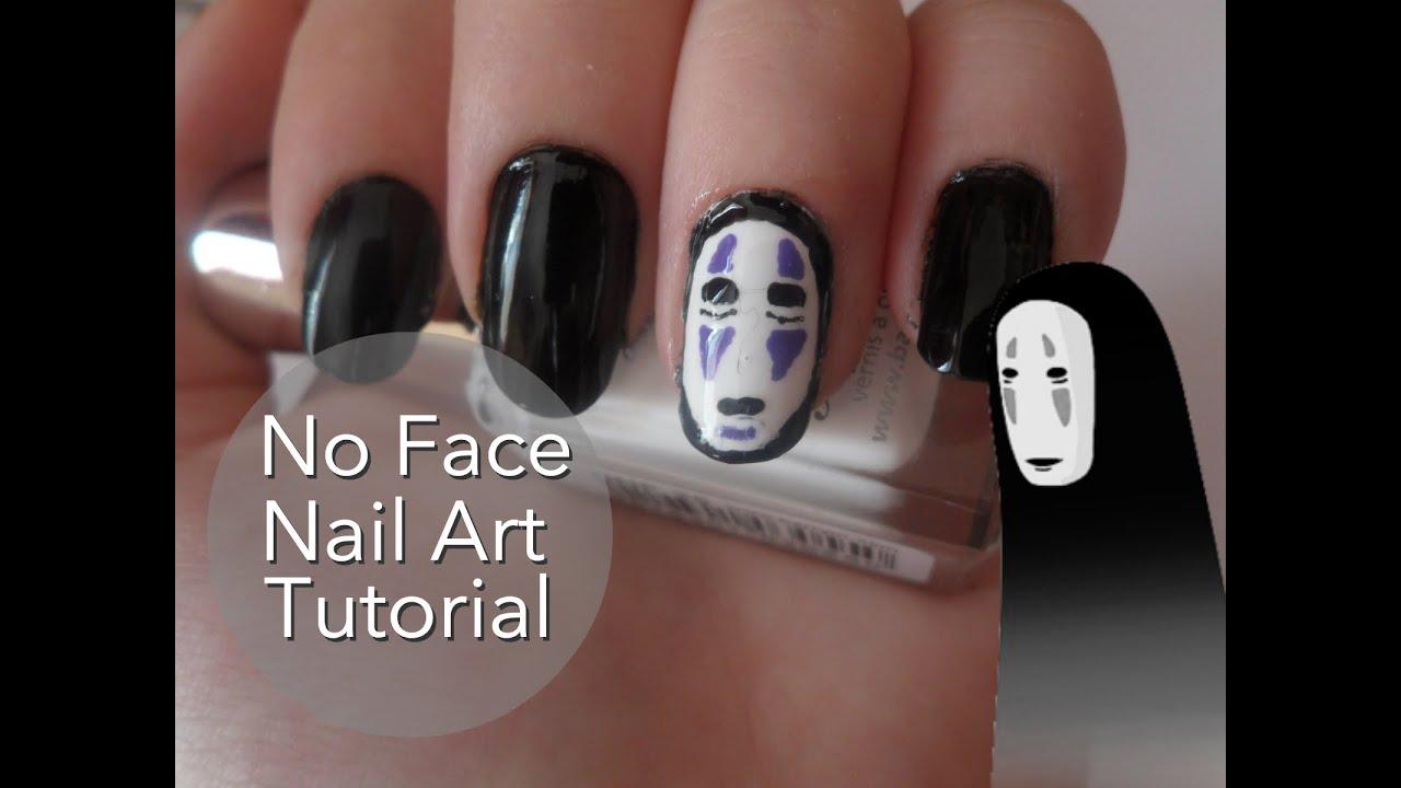 Spirited Away No Face Nail Art Tutorial - YouTube