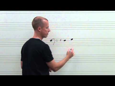 How to read pitches Bass (F) Clef