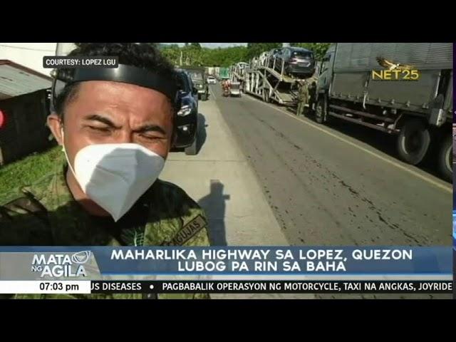 Maharlika Highway sa Lopez, Quezon lubog pa rin sa baha