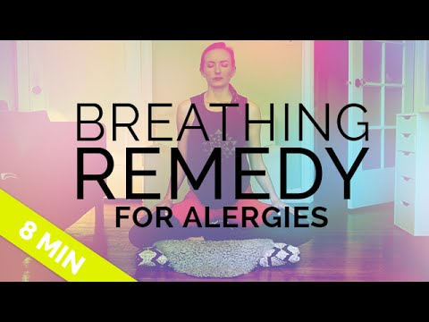 Home Remedy for Allergies: Yoga Breathing Technique to Help Sinuses (Bhastrika Yoga Breath)