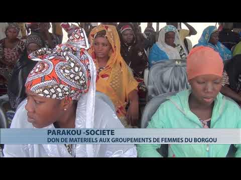 Société : les groupements de femmes du Borgou reçoivent du matériel