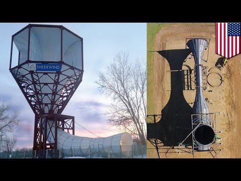 Funnel wind turbine: radical new design harnesses 600% more electricity from wind - TomoNews
